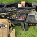 L85 A2  5x mags 6x batteries gun-bag  2x scope 2x charges Battle battle chest piece soft shell pistol holster. 3M for Velcro mag pouches Daniel defence rail with front grip/bipod