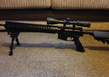 Tippmann m4 DMR mk12 with vortex scope