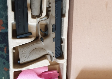 Gas blowback type pistol, WE, GGB-0365TMD-TAN