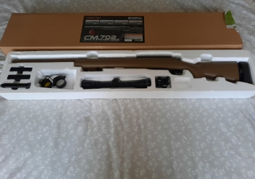 Airsoft Cyma CM.702 sniper rifle with scope