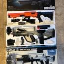 2 FOR 1 – Famas Assault Rifle & Shotgun Spring-Loaded Airsoft Guns (BB Guns)