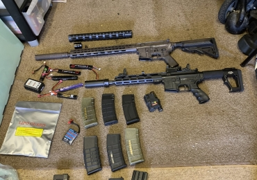 REDUCED 2x AEG G&G Top Tech and A&K DMR plus accessories