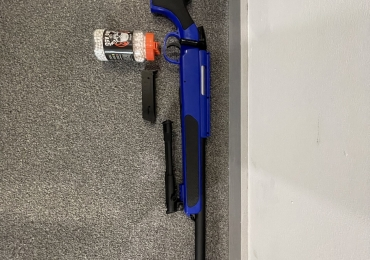 Cyma ZM51 bolt action sniper rifle with bipod in blue + BB Pellets x1500
