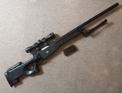Mauser Licensed L96 / SR-22 Bolt Action Spring Sniper Rifle W/ Scope, Bi-Pod and Magazine