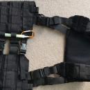 Padded Molle Waist Belt black +  Tactical Split Front Chest Harness